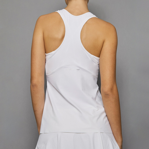 Denise Cronwall Pure White Racerback Top-Open Court
