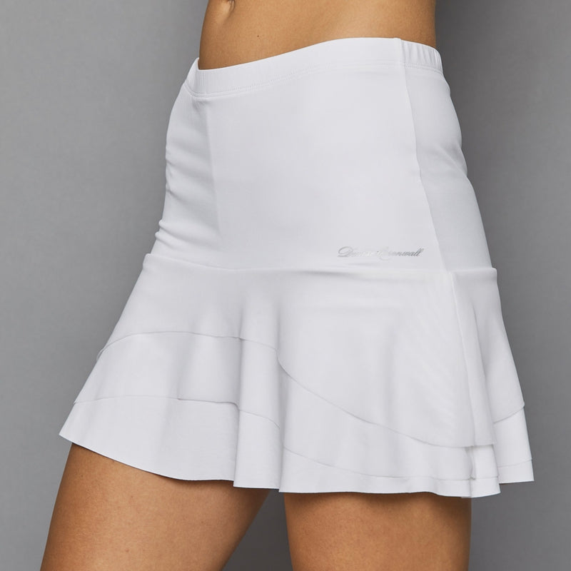 Denise Cronwall Pure White Tier Skort-Open Court