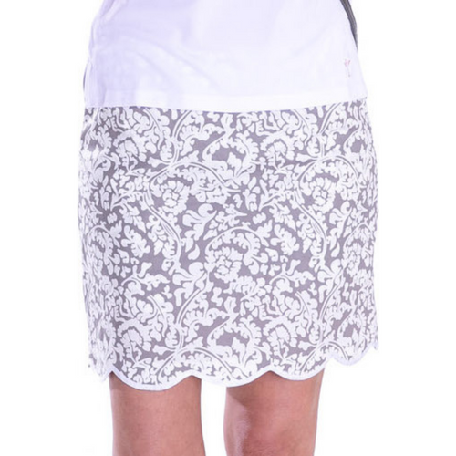 Golftini Dreamer Stretch Cotton Scalloped SKort-Open Court