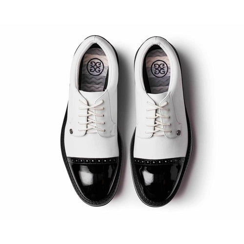 G/FORE Cap Toe Golf Shoe-Snow/Onyx-Open Court