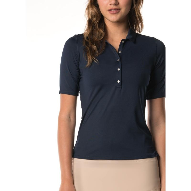 Lucky In Love Golf Le Snap Half Sleeve Polo-Open Court