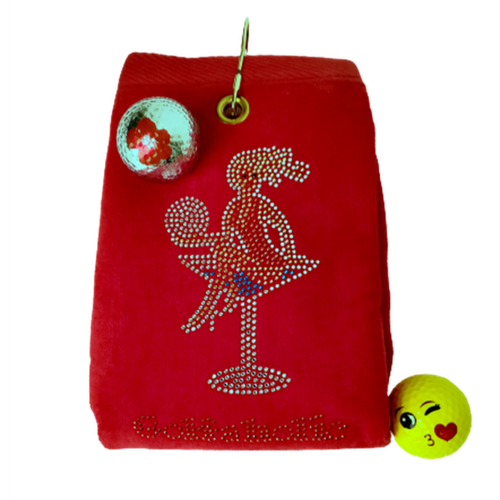 Navika Golf Towel - Red - Golfaholic-Open Court