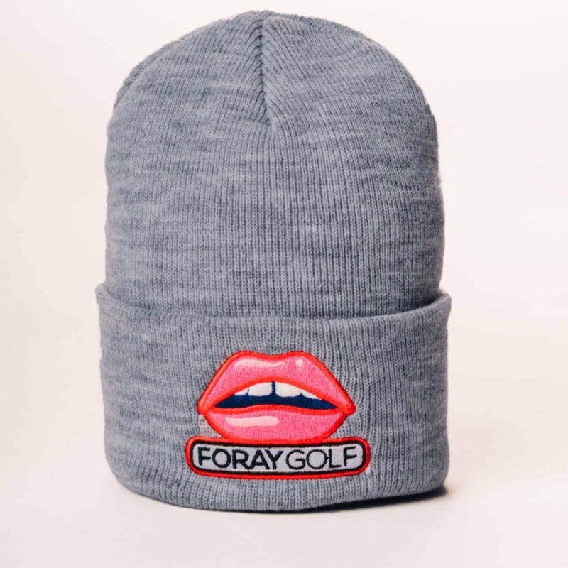 Foray Golf Lips Beanie - Grey Accessories - Open Court