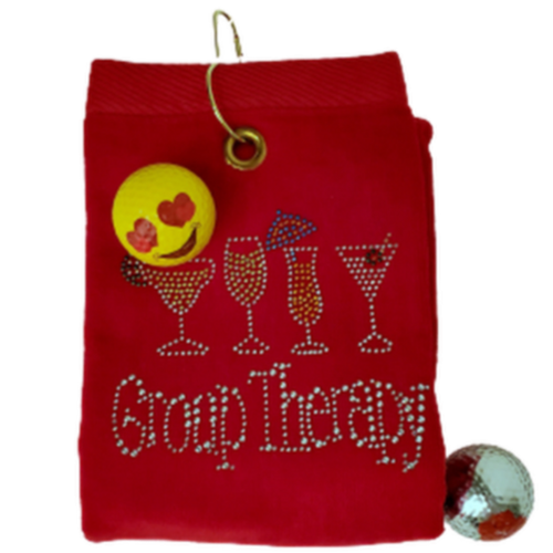 Navika Golf Towel - Red - Group Therapy-Open Court