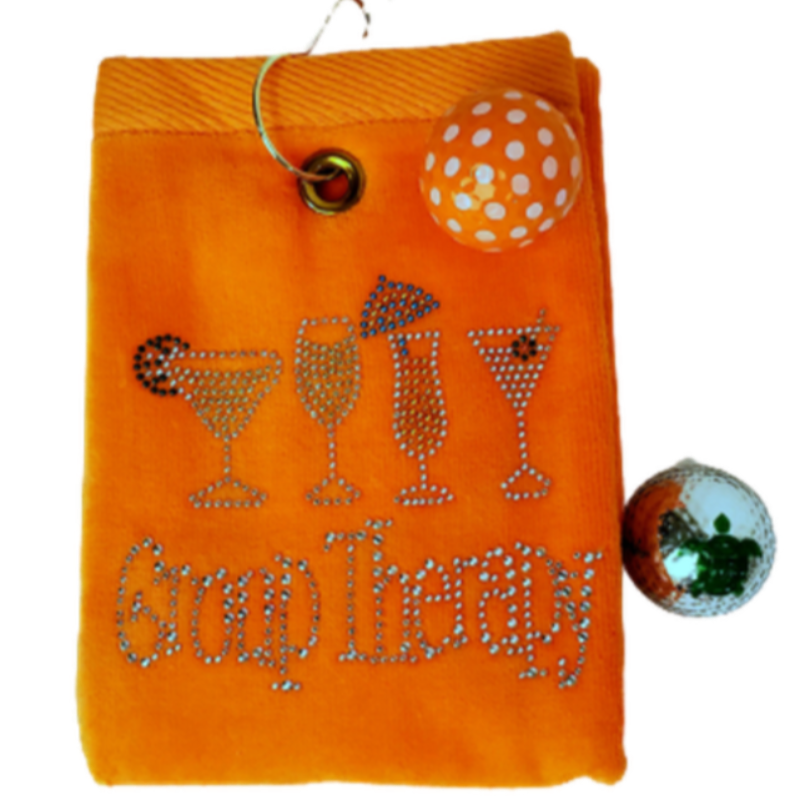 Navika Golf Towel - Orange - Group Therapy-Open Court
