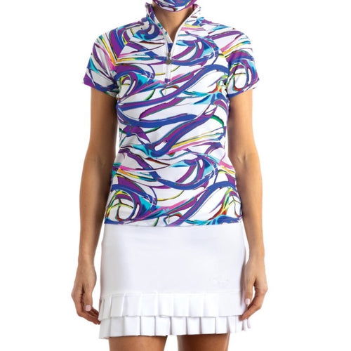 Tzu Tzu Lucy S/S Top - Hoopla (Purple/Blue)-Open Court