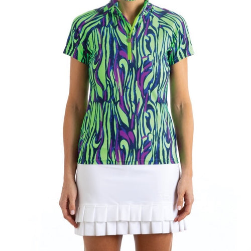 Tzu Tzu Lucy S/S Top - Wild (Green/Purple/Blue)-Open Court