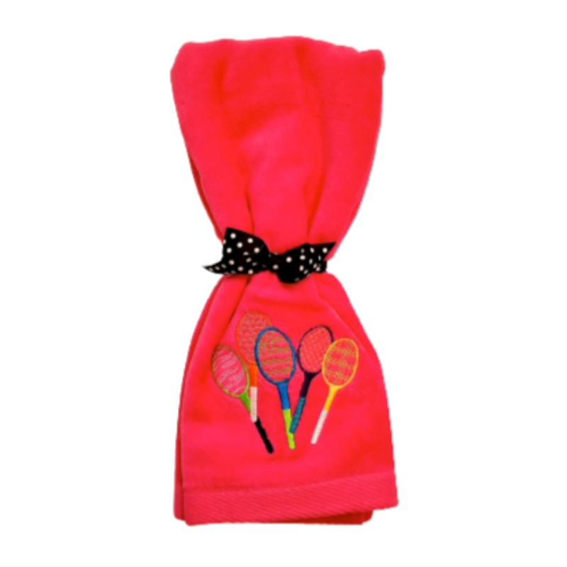 Tennis Towel - Little Racquets-Open Court