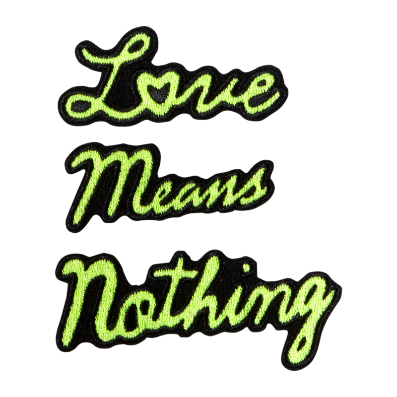 Oliver Thomas Badge - Love Means Nothing - Yellow Multi-Open Court