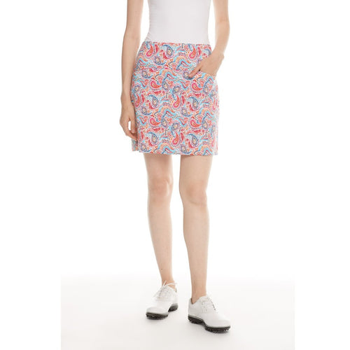 "Swing Control Skort 18"" Bright Paisley-Open Court"