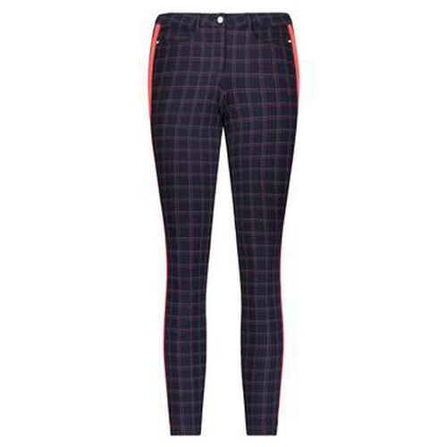 Movetes Eliza Pant - Navy Plaid-Open Court