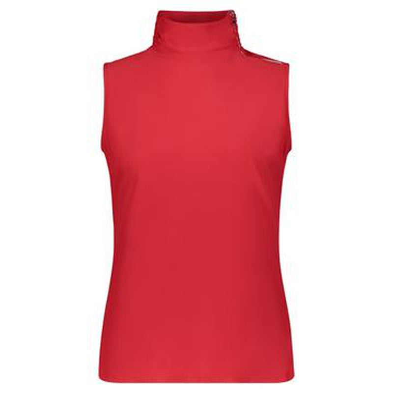 Movetes Maisy Sleeveless Top - Red-Open Court