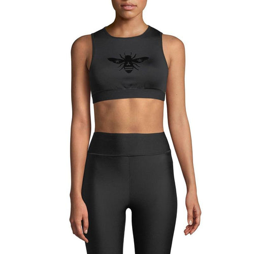 Ultracor Bumble Bee Bra Top - Nero/Patent-Open Court
