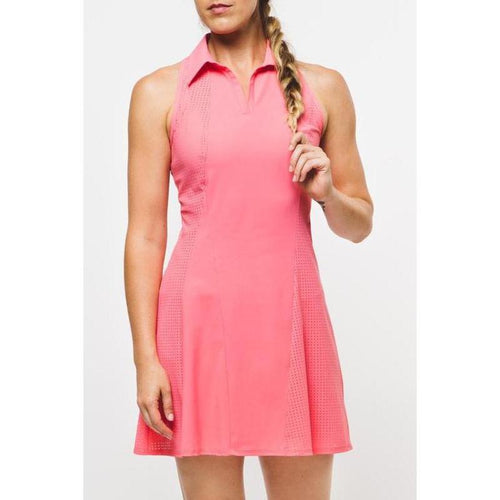 Foray Golf Core Perforated Dress - Flamingo-Open Court