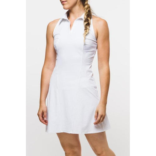 Foray Golf Core Perforated Dress - White-Open Court