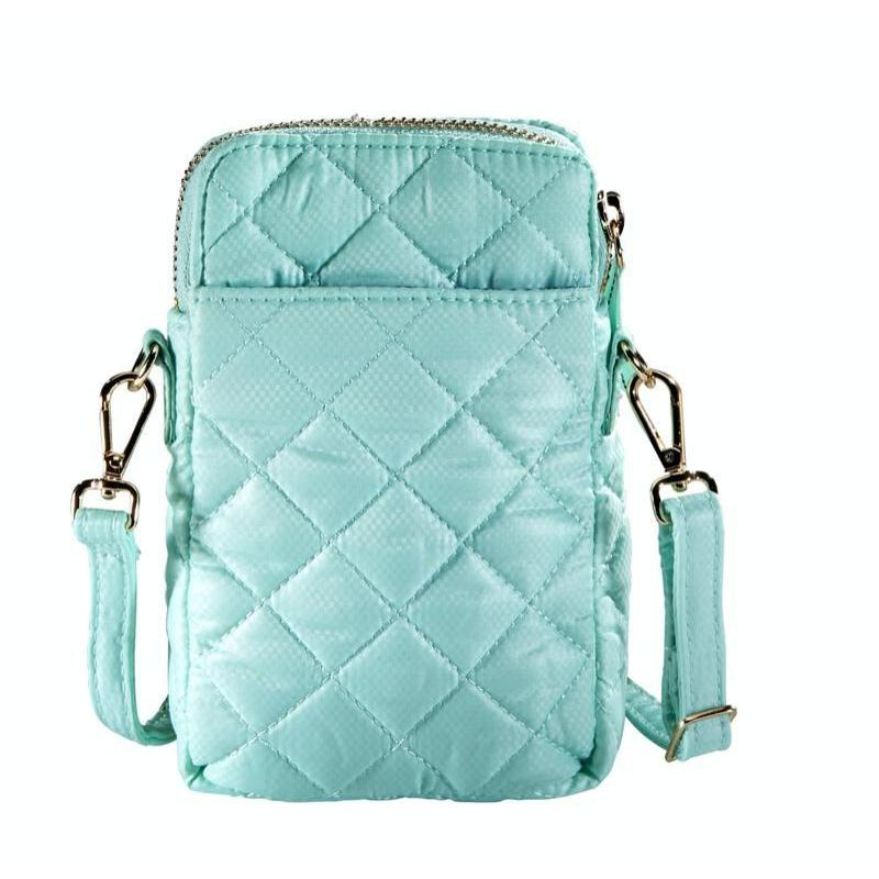 Oliver Thomas Cellphone Crossbody - Bermuda Blue-Open Court