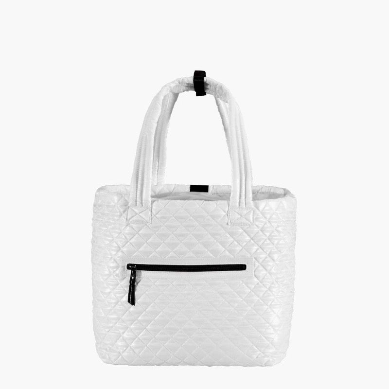 Oliver Thomas Wingwoman Tote - White/Black Stripe-Open Court