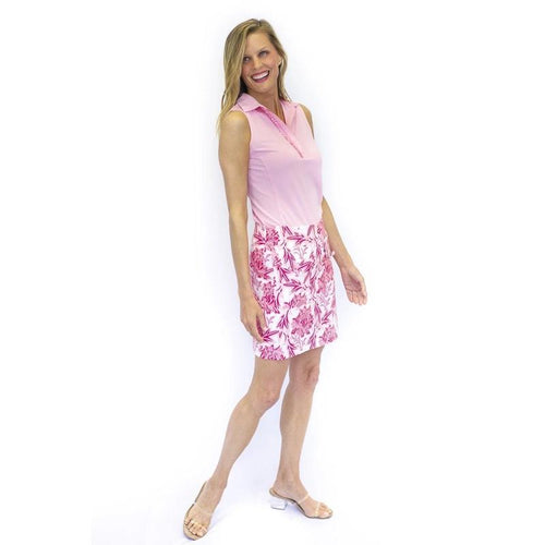 "Golftini Rose Stretch Cotton Skort 17.5""-Open Court"