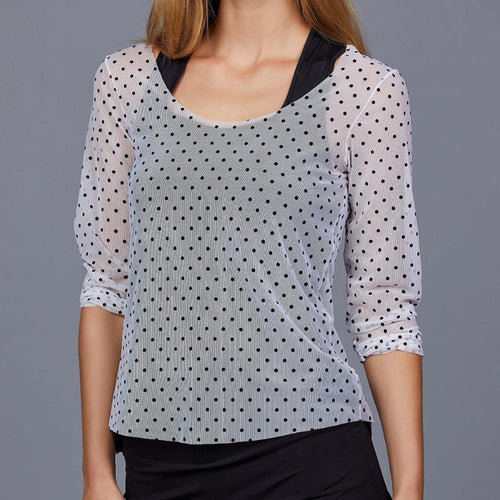 Denise Cronwall Chiquita Breeze Mesh Pullover-Open Court