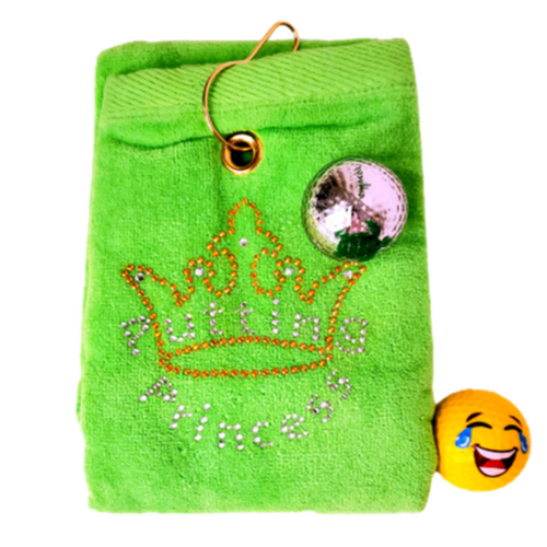 Navika Golf Towel - Green - Golf Goddess-Open Court