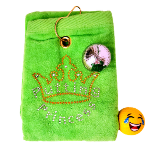 Navika Golf Towel - Green - Princess-Open Court