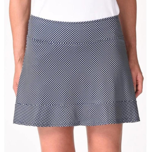"Golftini Putt Putt Skort 16.5"" - Navy/White Dot-Open Court"