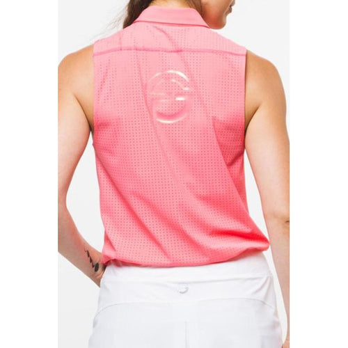 Foray Golf Core 2.0 S/L Polo - Flamingo-Open Court