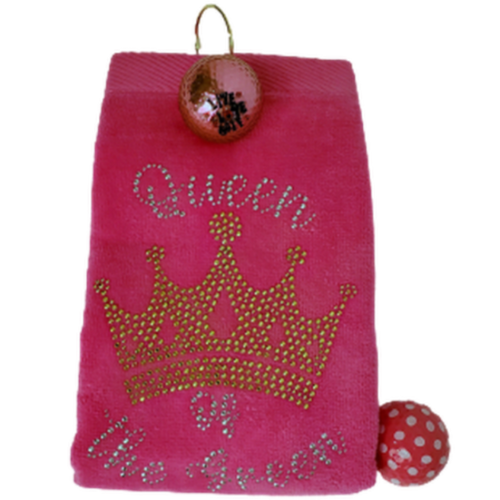 Navika Golf Towel - Pink - Queen of the Green-Open Court