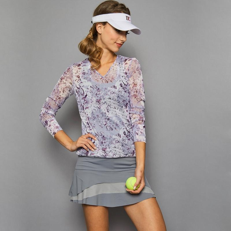 Denise Cronwall Rhapsody V-Neck Pullover Tops - Open Court