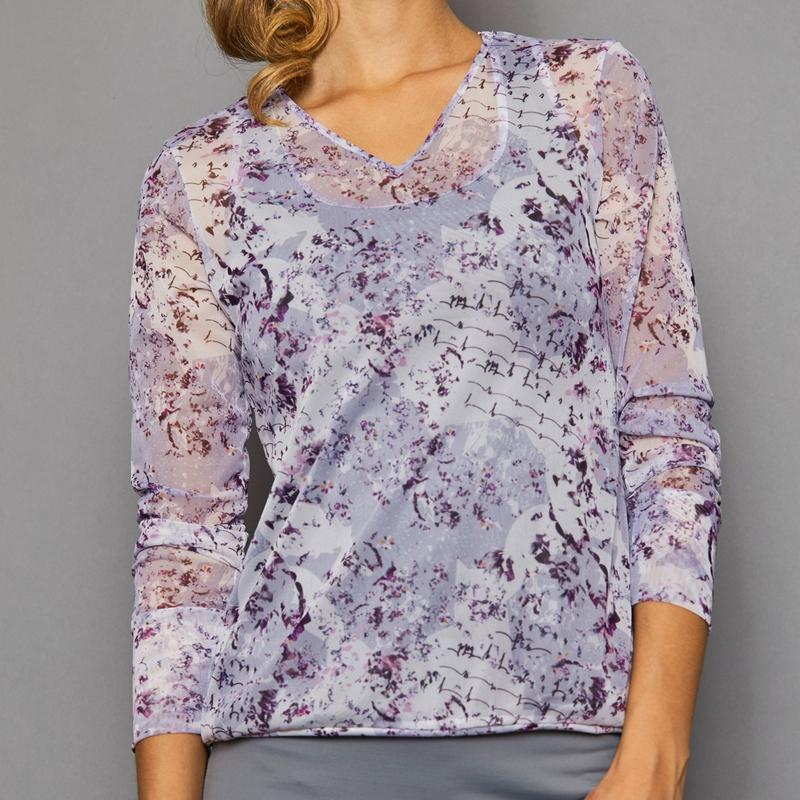 Denise Cronwall Rhapsody V-Neck Pullover-Open Court