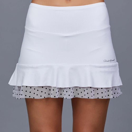 "Denise Cronwall Chiquita Bonita 15"" Skirt - White/Black-Open Court"