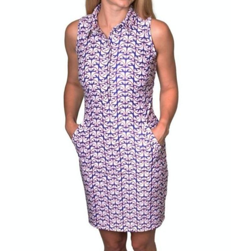 Tea2Sea S/L Golf Dress-Open Court