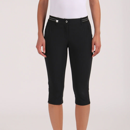 Chervò Stra Knee Length Capri - Black-Open Court
