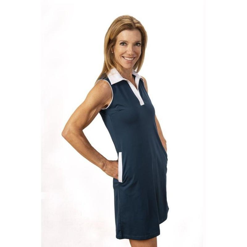 Scratch SEVENTY Mina Dress S/L w/Contrast Collar-Open Court