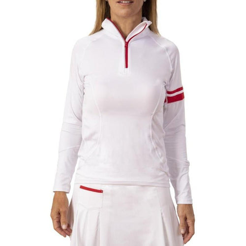 Scratch SEVENTY Pamela L/S Red Trim Top-Open Court