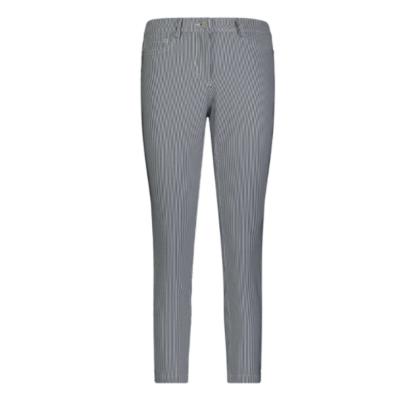 Movetes Crop Pant - Navy Stripe Bottoms - Open Court