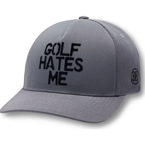 G/FORE Golf Hates Me Snapback Hat - Charcoal-Open Court