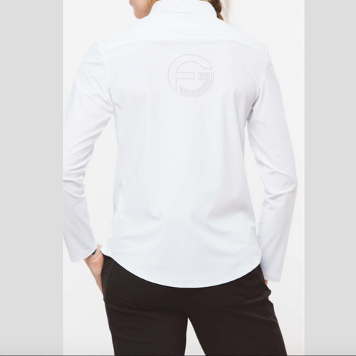Foray Golf Core L/S Polo - White Tops - Open Court
