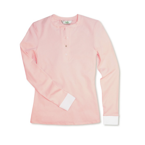 Hedge Radcliffe L/S Top - Pink-Open Court