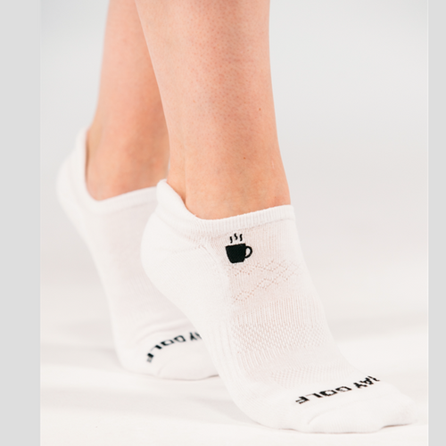 Foray Golf Lingo Ankle Sock - Breakfast/Ball-Open Court