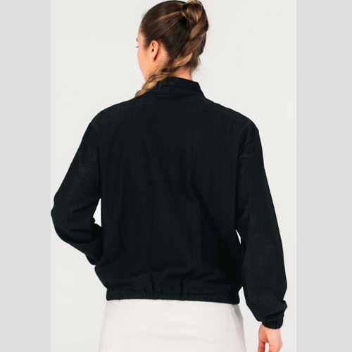 Foray Golf Animal Texture Track Jacket - Black-Open Court