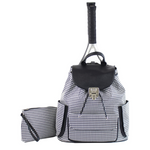 Court Couture Hampton Bag - Houndstooth Black Accessories - Open Court