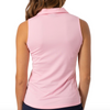 Golftini S/L Zip Tech Polo - Light Pink Tops - Open Court