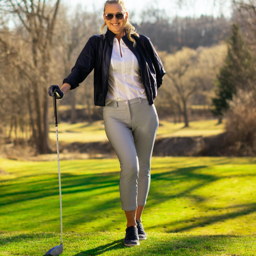 Movetes Crop Pant - Navy Stripe-Open Court