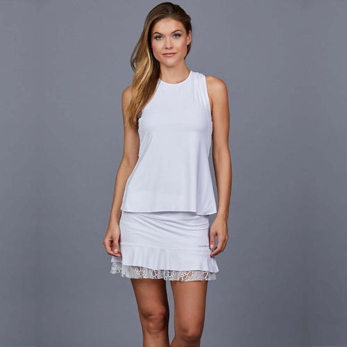 Denise Cronwall Luna Tank Top - White Lace-Open Court