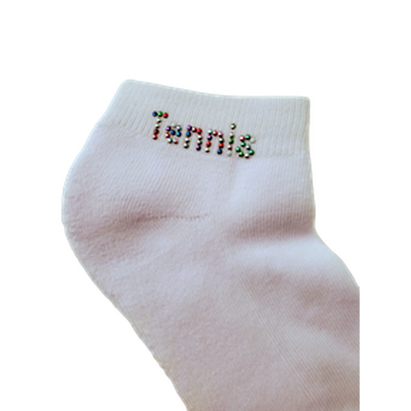 On the Tee Sock - Tennis Multi - Nail Heads-Open Court