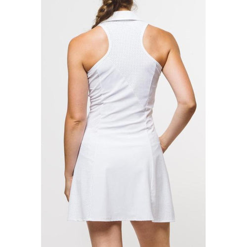 Foray Golf Core Perforated White Dress Dresses - Open Court