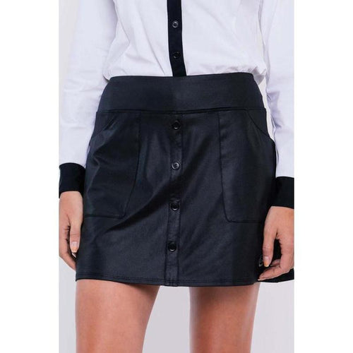 Foray Golf D-Luxe Skirt - Black-Open Court