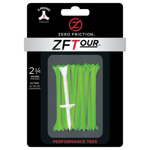 Zero Friction 3-Prong Golf Tees-40 Pack-Open Court