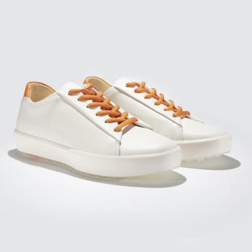 Pakira Diva Dundee Golf Shoe - White / Saffron-Open Court